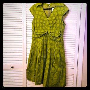 👒NEW👒EUC VTG citrus polkadot pin-up circle dress